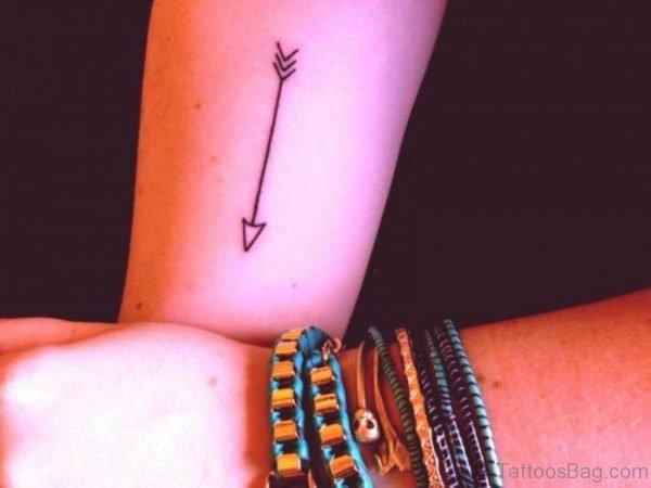 Arrow Tattoo On Girl Arm