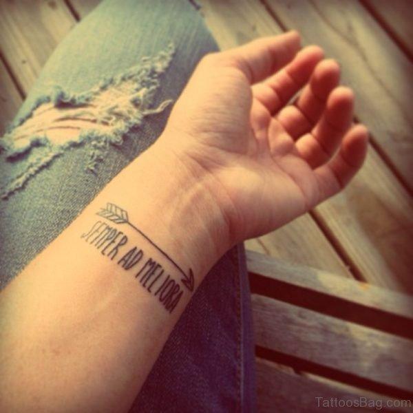 Arrow Tattoo On Wrist photo