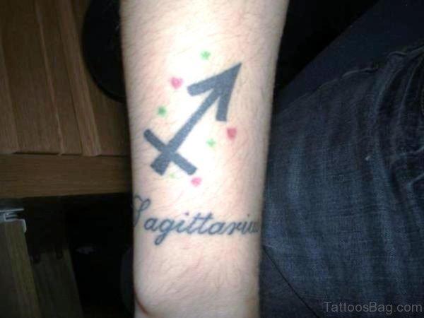 Arrow With Sagittarius Wording Design