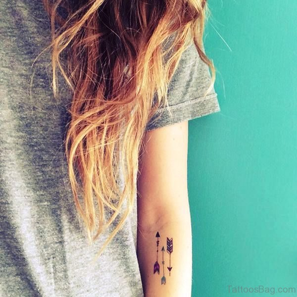 Arrows Tattoo On Arm For Girls
