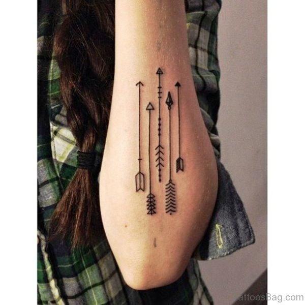 Arrows Tattoo On Arm Image