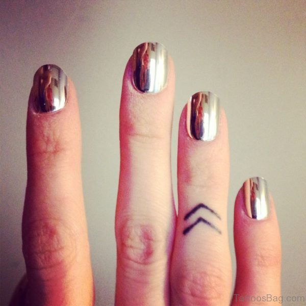 Arrows Tattoo On Finger