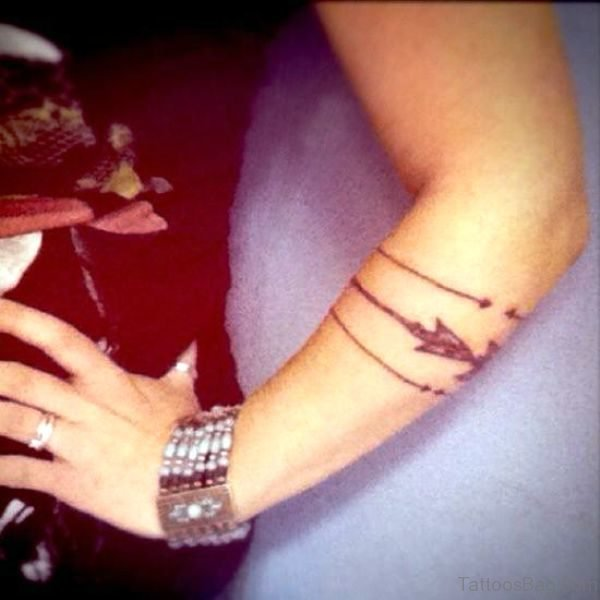 Arrows Tattoo On Girl Arm