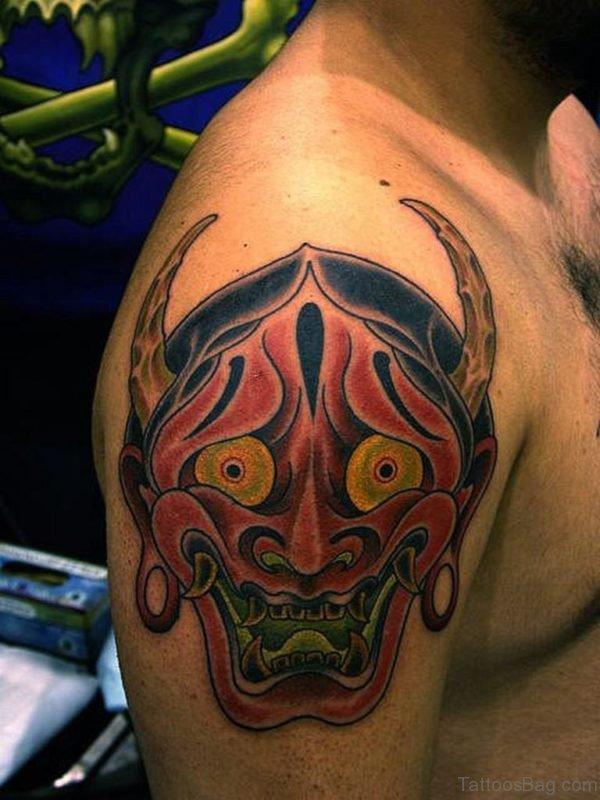 Asian Devil Mask Tattoo
