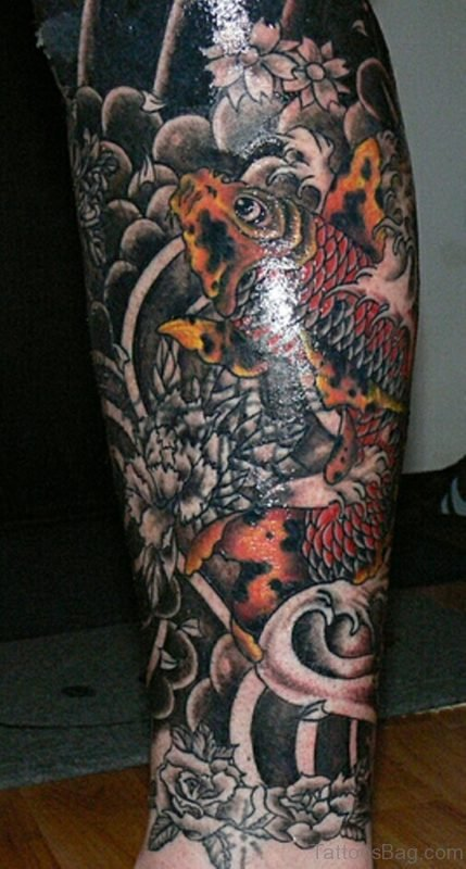 Asian Koi Fish Tattoo