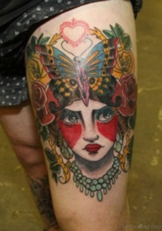 Asian Style Geisha Tattoo