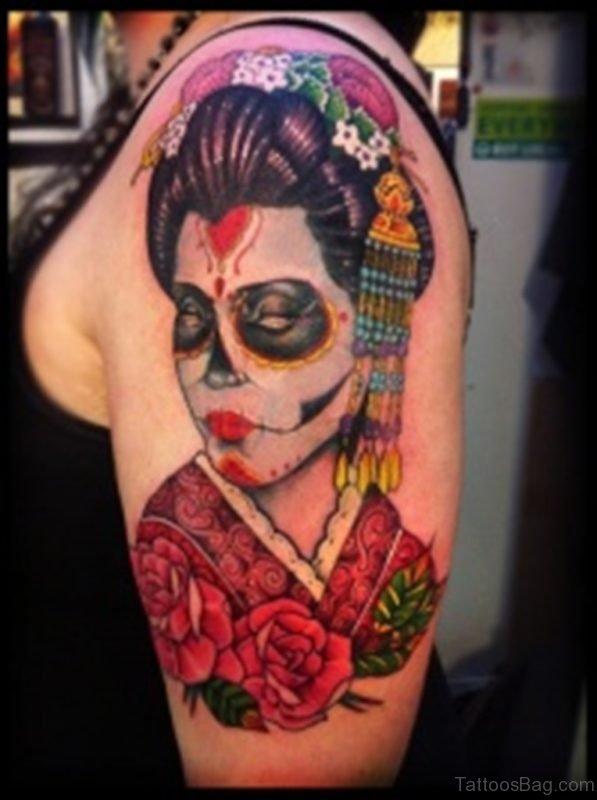 Asian Style Zombie Tattoo