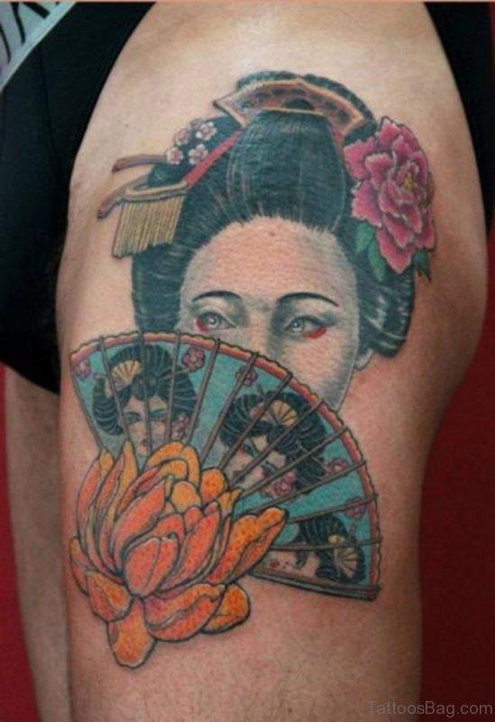 Asian Woman Portrait Tattoo