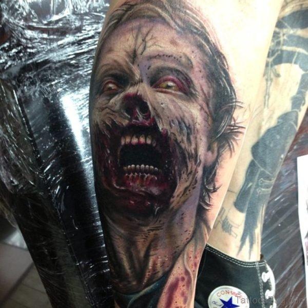 Atractive Zombie Tattoo