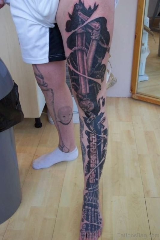 Attarctive Biomechanical Tattoo
