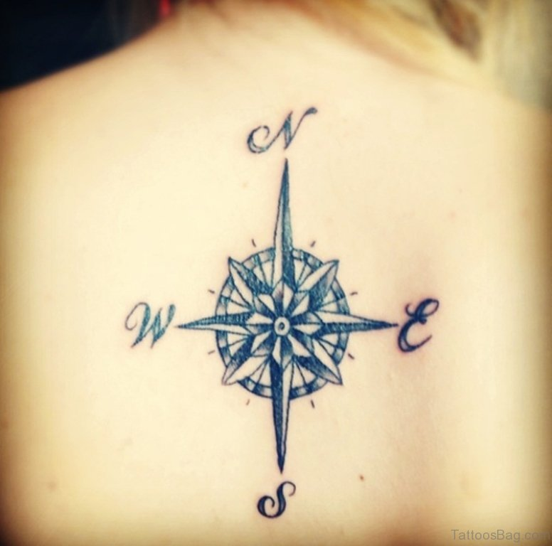60 Excellent Compass Tattoos Designs On Back