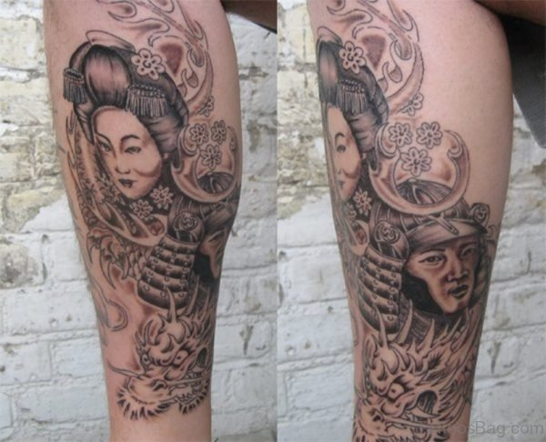 Attractive Geisha Tattoo