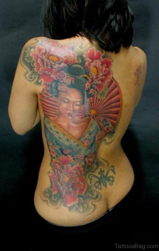 Attarctive Geisha Tattoo