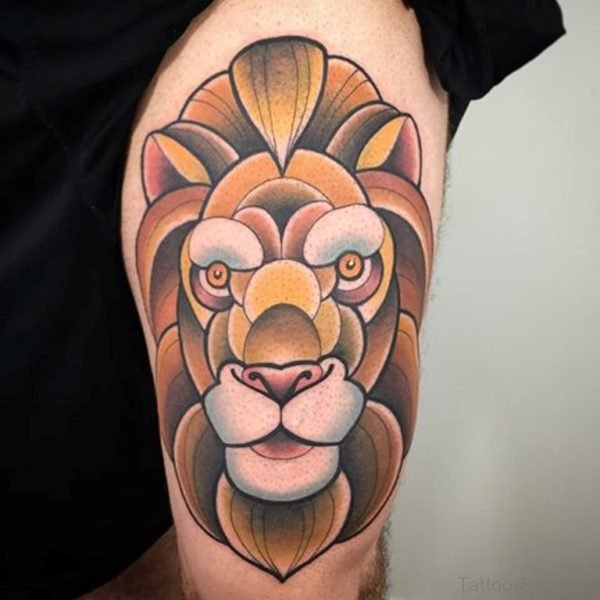 Attarctive Lion Tattoo