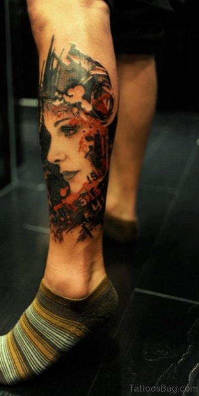 Attractive Portrait Tattoo