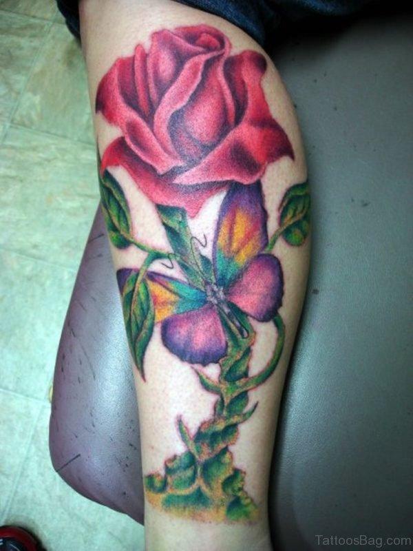Attarctive Rose Tattoo