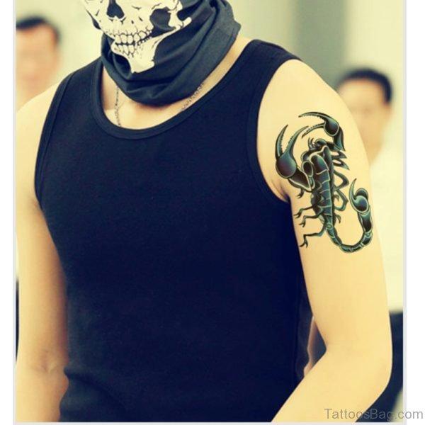 Attarctive Scorpion Tattoo On Shoulder