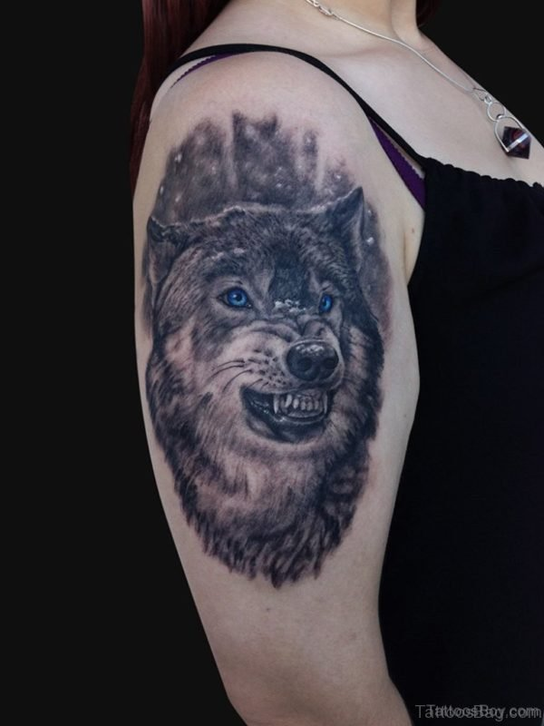 Attractive Wolf Tattoo