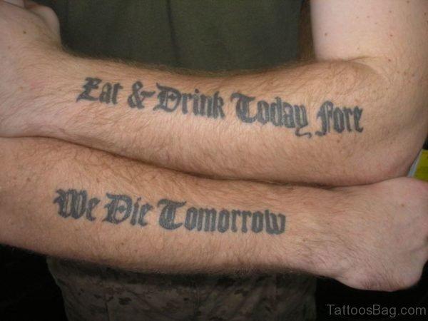 Attarctive Wording Tattoo