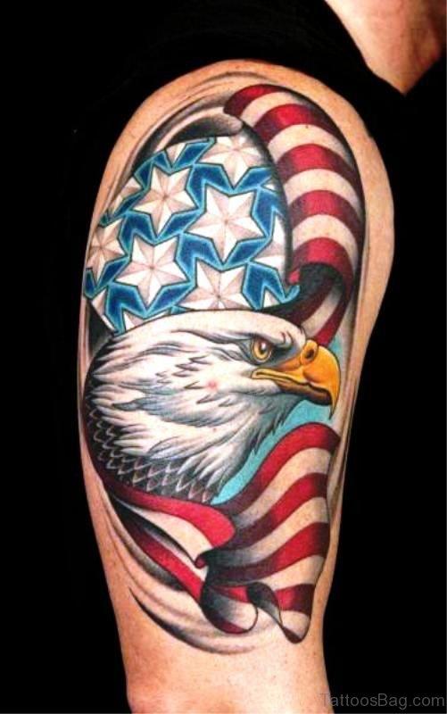 Attractive American Eagle Tattoo Design