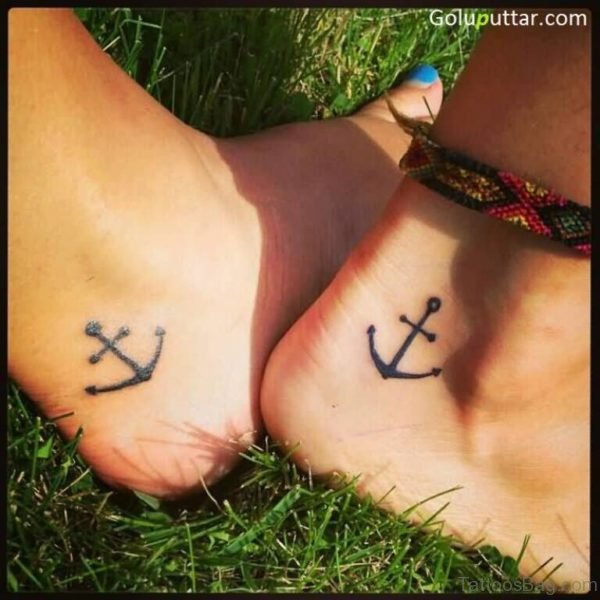 Attractive Anchor Tattoo On Ankle