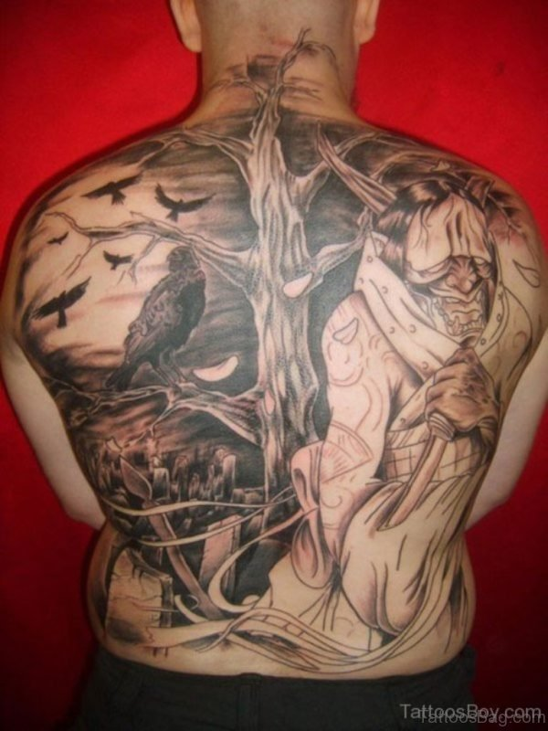 Attractive Back Tattoo