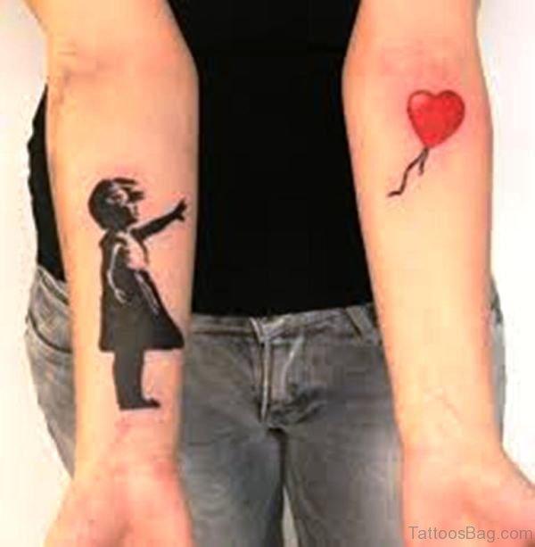 Attractive Balloon Tattoo On Wrist
