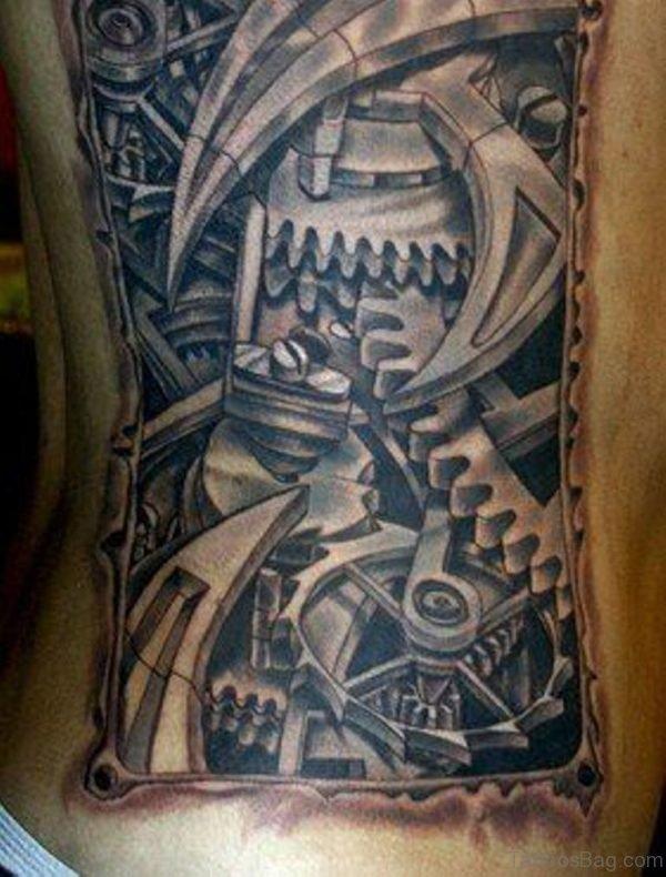 Attractive Biomechanical Tattoo Design