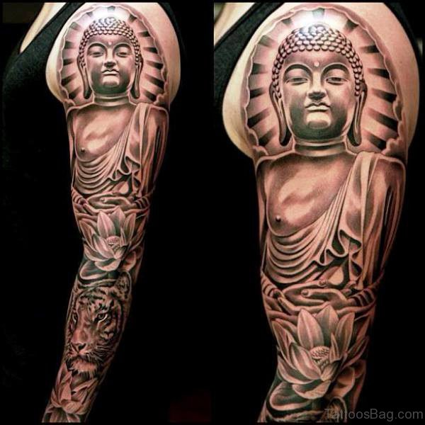 Attractive Buddha Tattoo Full Sleeve