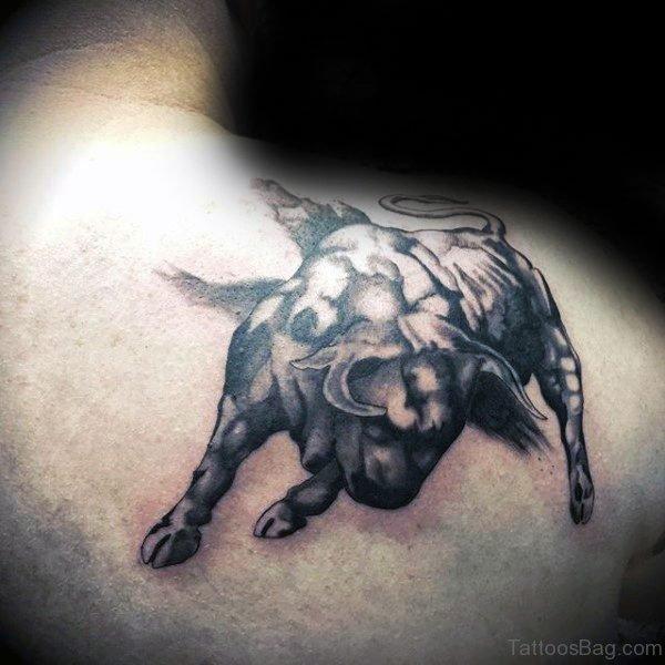 Attractive Bull Tattoo Design