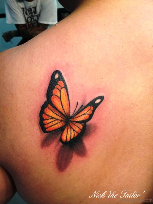 Attractive Butterfly Tattoo On Shoulder