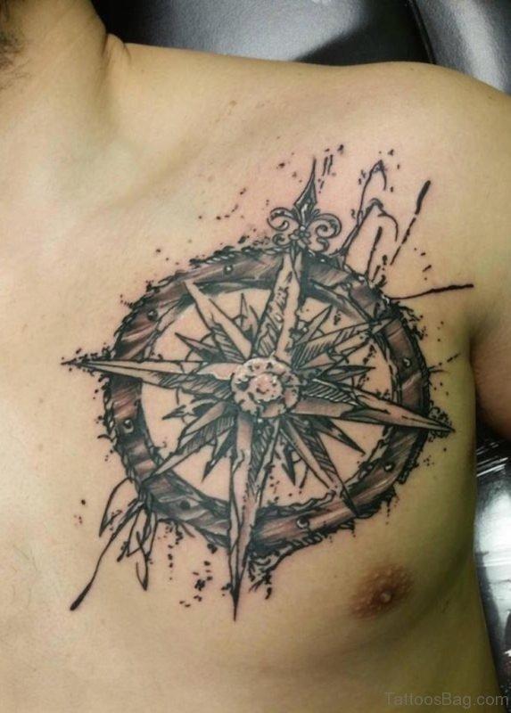 Attractive Compass Tattoo