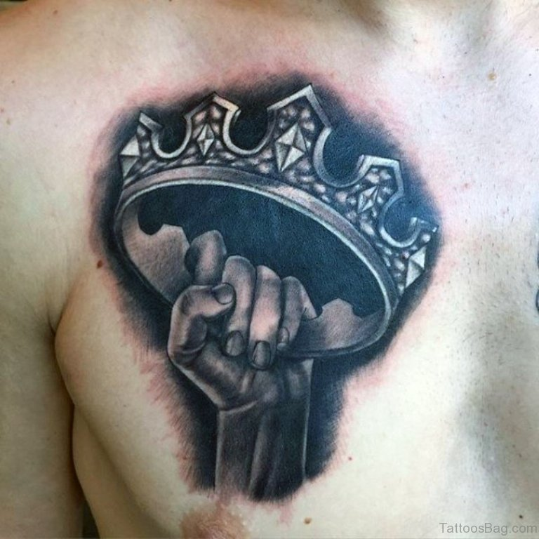 72 Graceful Crown Tattoos On Chest These styles are also nice for sleeves. tattoo designs tattoosbag com