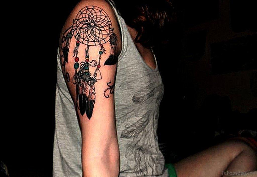 Dream Catcher Tattoo On Shoulder Magnificent 60 Ravishing Dreamcatcher Tattoos For Shoulder