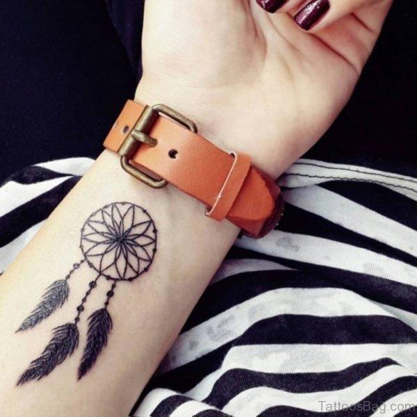 Attractive Dreamcatcher Tattoo On Wrist