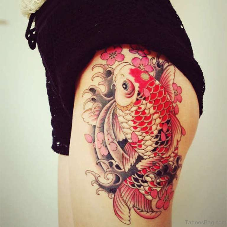 57 Ultimate Fish Tattoos For Thigh