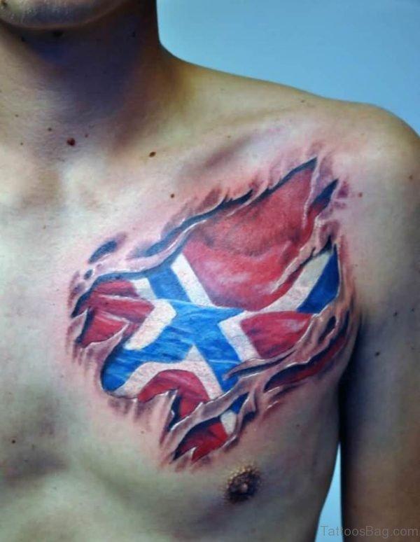 Attractive Flag Tattoo