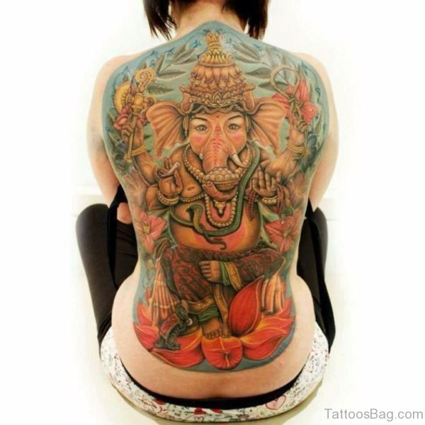 Attractive Ganesha Tattoo