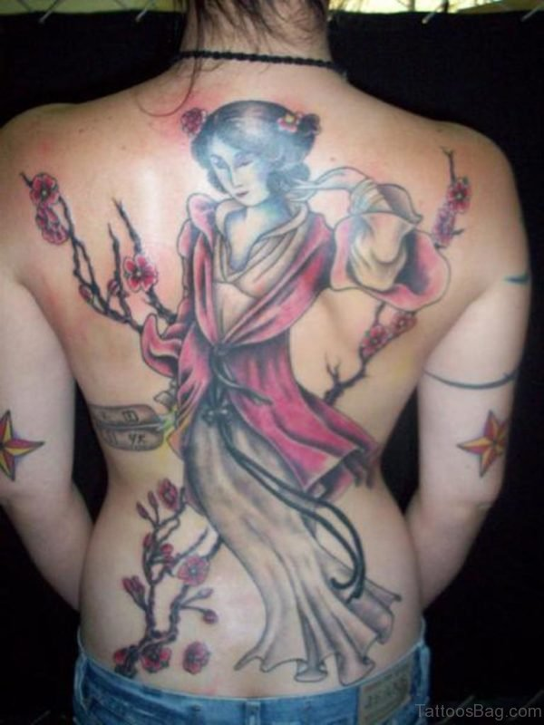 Attractive Geisha Tattoo