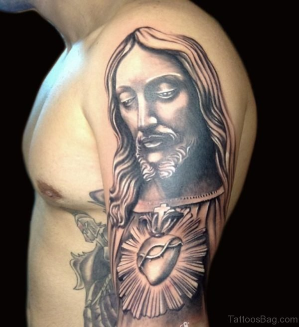 Attractive Jesus Tattoo