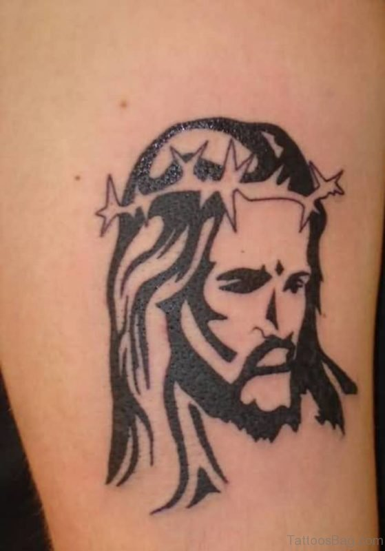 Attractive Jesus Tattoo Design