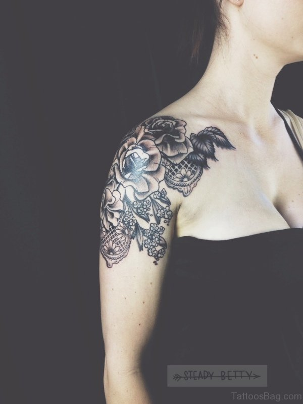 Attractive Lace Tattoo Design