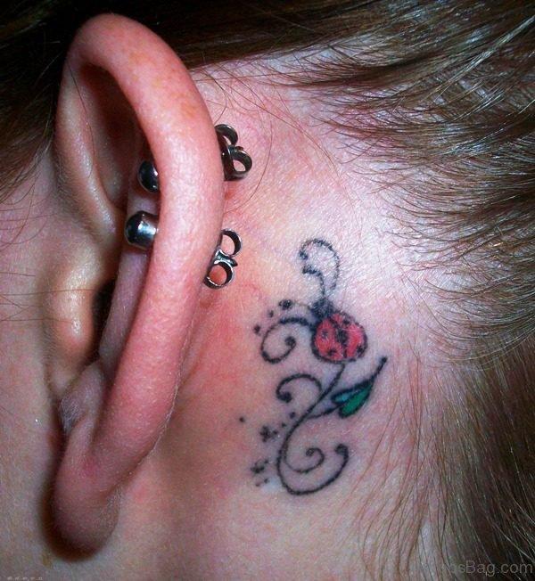 Attractive Ladybug Tattoo