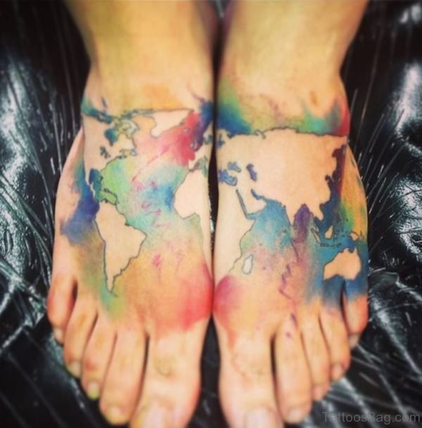 Attractive Map Tattoo