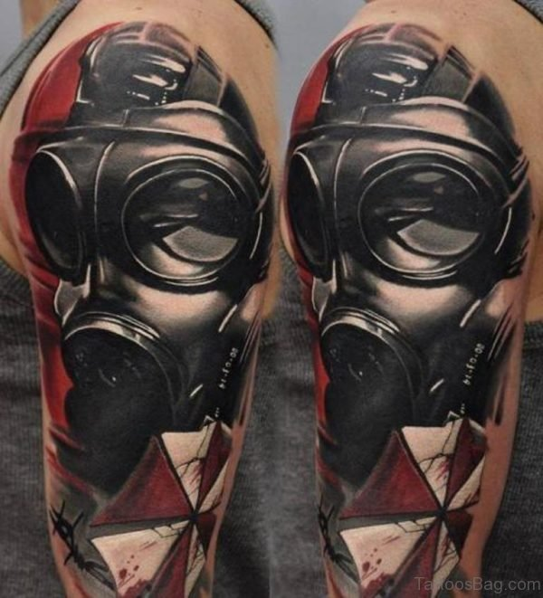 Attractive Mask Tattoo
