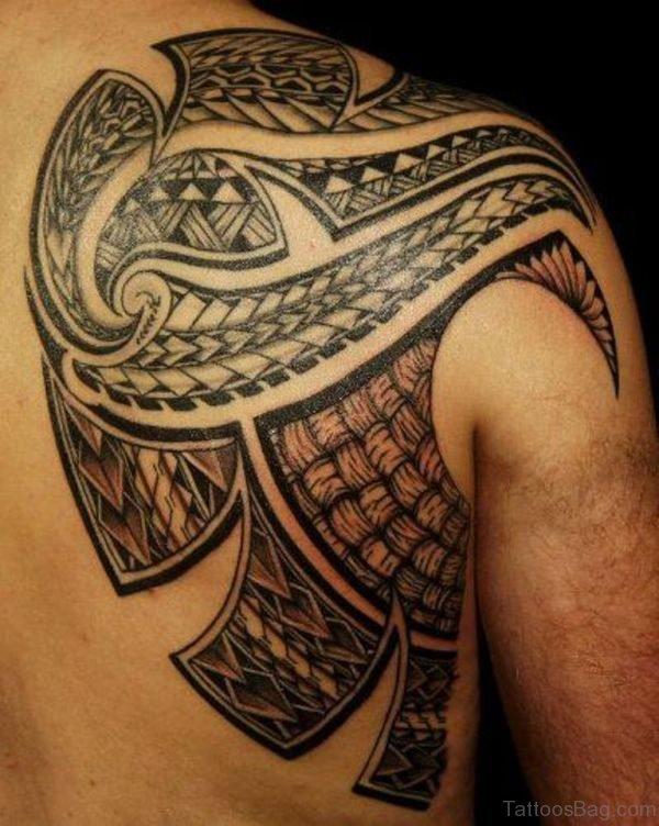 Attractive Samoan Tattoo On Shoulder