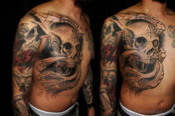 Attractive Skull Tattoo