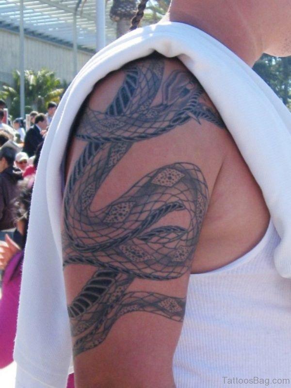 Attractive Snake Tattoo Design