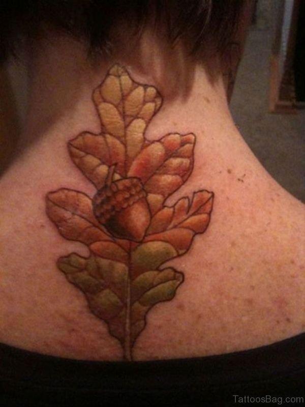Attractive Tree Tattoo On Neck