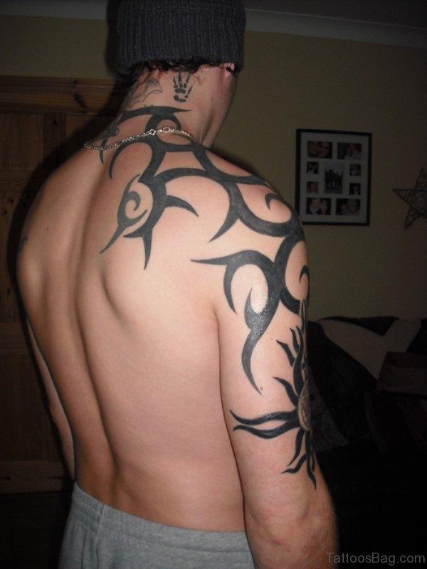 Attractive Tribal Neck Tattoo